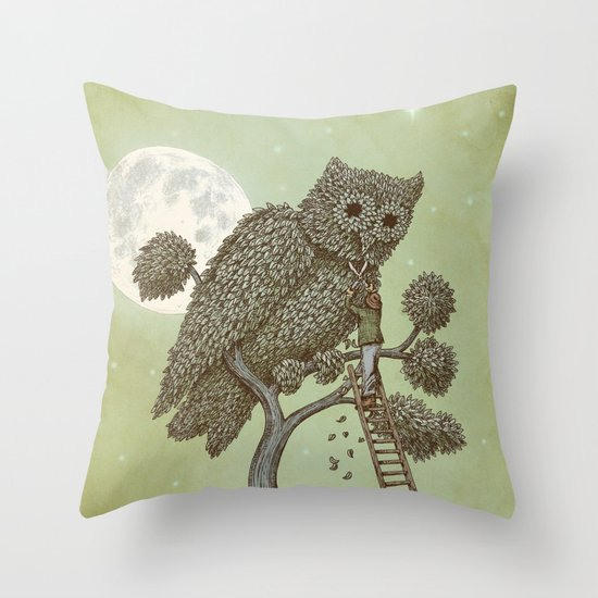 The Night Gardener (Colour Option) Throw Pillow