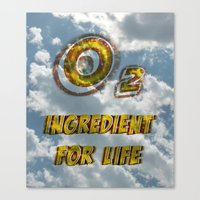 Oxygen Ingredient For Li… Canvas Print