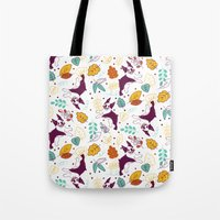 Happy Fall, Dogs! (Boston) Tote Bag