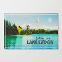 Greetings From Lake Endor Canvas Print