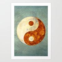 Mars & Venus  Art Print