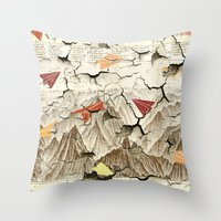 Peeling Pyrenees Paper Planes Throw Pillow