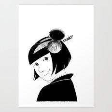 Clink! Art Print