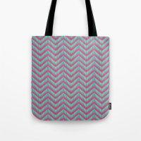 Hot Pink & Mint Tote Bag