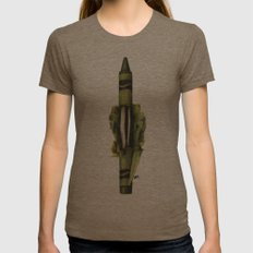 To The Core: Green Womens Fitted Tee Tri-Coffee SMALL