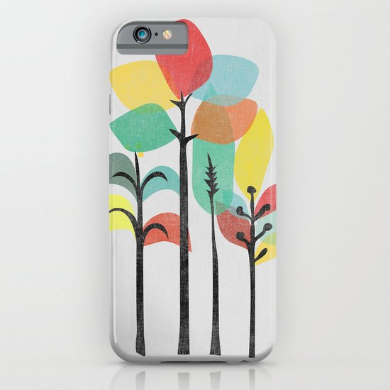 Tropical Groove (gray) iPhone & iPod Case