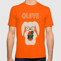 Hipster #LOVE Mens Fitted Tee Orange SMALL