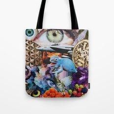 Chameleon Collage Tote Bag