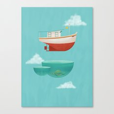 Floating Boat Canvas Print