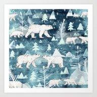Ice Bears Art Print