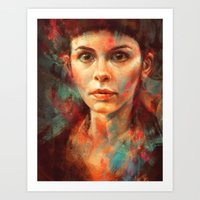 She Was Always A Lonely … Art Print