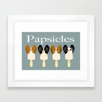 Papsicles Framed Art Print