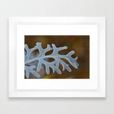 Silver Brocade Framed Art Print