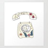 Phone Love Art Print