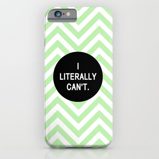 I literally can't.  iPhone & iPod Case
