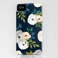 Midnight Florals - Blue … iPhone (4, 4s) Slim Case