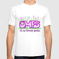 OMFG Mens Fitted Tee White SMALL