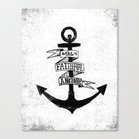 The Faithful Anchor Canvas Print