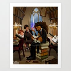 Harry Potter Study Hall Art Print