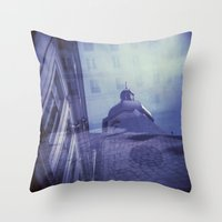 Holga Double Exposure: Eglise Saint-Paul-Saint-Louis, Paris  Throw Pillow