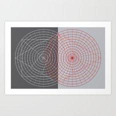 Confused Lines Art Print
