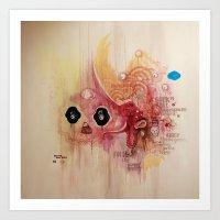 Outerspace Rock`n´Roll … Art Print