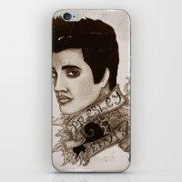 The King of Rock 'n' Roll (Elvis Presley) iPhone & iPod Skin