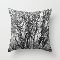 Trees of Black and White! Throw Pillow