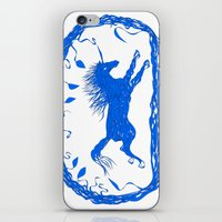 Blue Unicorn 02 iPhone & iPod Skin