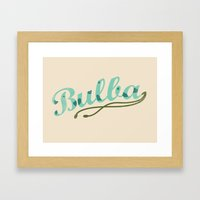 Bulba Framed Art Print