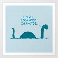 Monster Issues - Nessie  Art Print