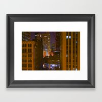 Four Color Construction … Framed Art Print