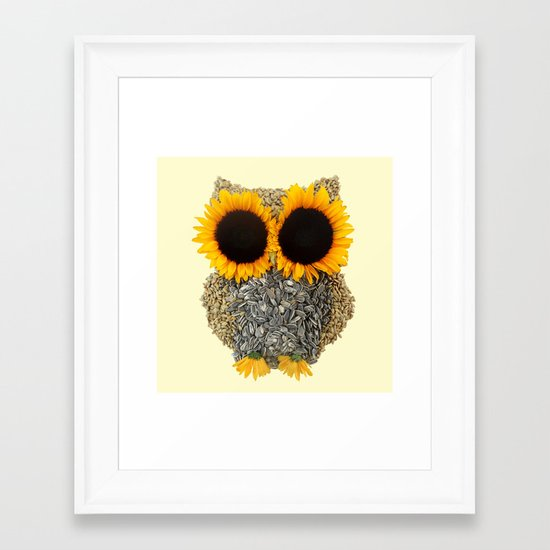 Hoot! Day Owl! Framed Art Print