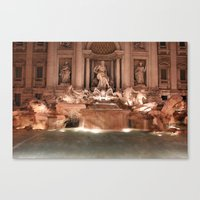 Make a Wish at Trevi Fountain Canvas Print