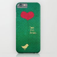 iPhone & iPod Case featuring love is in the air by Mariana Beldi