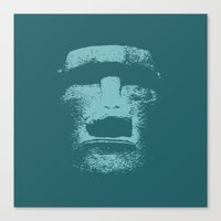 Maoi Head Canvas Print