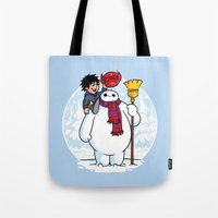 Inflatable Snowman Tote Bag