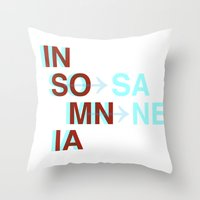 Insomnia / Insane Throw Pillow