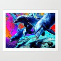 Dolphins 3 Art Print