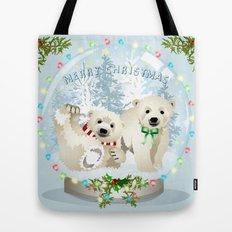 Snow globe bears Tote Bag