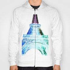 Parisian Mosaic - Piece 21 - The Eiffel Tower Night Light Hoody