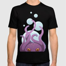 Octopus Black Mens Fitted Tee SMALL