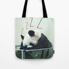 Sleepy Panda Tote Bag