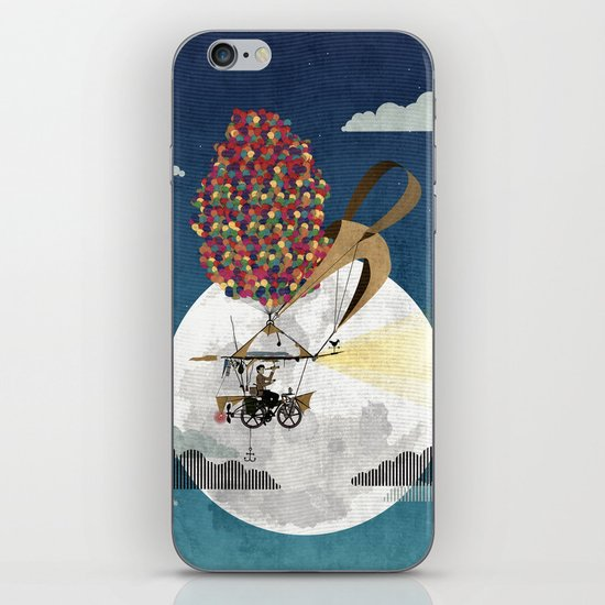 Flying Bicycle iPhone & iPod Skin