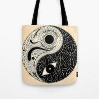 - yin & yang - [collaborative art with famenxt] Tote Bag