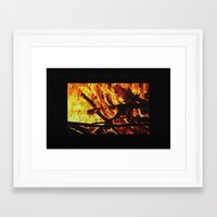 FIRE UP YOUR ENGINE Framed Art Print