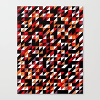 Sumi Retro Quilt Canvas Print