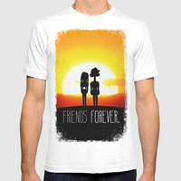 Friends FOREVER. Mens Fitted Tee White SMALL