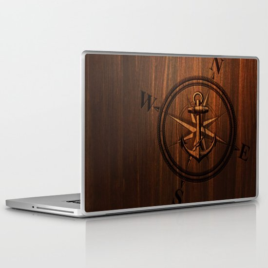 Wooden Anchor Laptop & iPad Skin