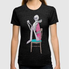 circus skeleton Womens Fitted Tee Tri-Black SMALL